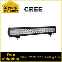20Inch 126W CREE Led Light Bar Flood Spot Offroad Work Lights 4WD Truck Atv Ute