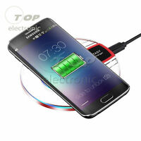 Qi Wireless Fast Charging Desktop Mobile Phone Charger Pad for Samsung S8 S7