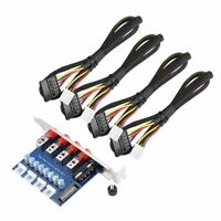 4 Channel 15Pin SATA HDD Switch Selector Control Hard Drive Switcher For Desktop