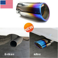 US Car Truck Stainless Steel Auto Exhaust Pipe Trim Tips Muffler Pipe Decor Tail