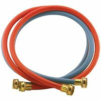 Certified Appliance Accessories 2 pk Red/Blue EPDM Washing Machine Hoses, 4ft