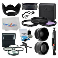 67mm Wide angle + 2x Telephoto Converter + Filter Kit + Macro +More Accesory Kit