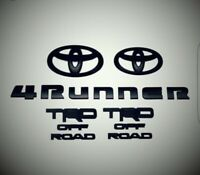 toyota 4runner matte black out emblem overlay kit  with trd offroad badges 15 pc