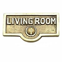 25 Switch Plate Tags LIVING ROOM Name Signs Labels  Brass | Renovator's Supply