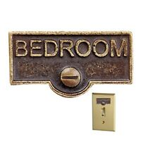 Switch Plate Tags BEDROOM Name Signs Labels Antique Brass | Renovator's Supply