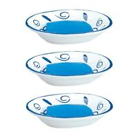3 Bathroom Soap Dishes Blue/White Neptune Ceramic Dish | Renovator's Supply
