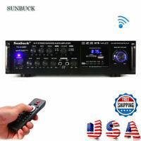 2000W 110V 2CH Digital Amplifier HIFI bluetooth AMP Stereo Audio FM Mic Car Home