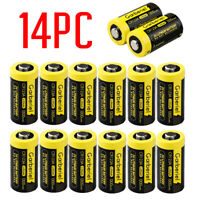 14-Pack Exp 2027 Garberiel 1300mAh 123A CR123A 3 Volt Lithium Batteries Camera