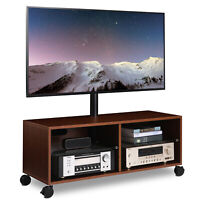 Wood TV Entertainment Stand Center with Swivel Mount for 32-65 inch TVs ,Walnut