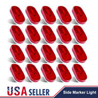 20X Red LED Indicator Light Clearance Side Marker Boat Truck Trailer RV 6 Diodes