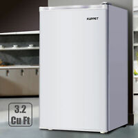3.2 Cu.ft Mini Fridge Compact Refrigerator Freezer Freestanding Home Dorm White