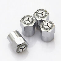 4x Car Truck Parts Wheel Tyre Dust Cover Tire Valve Caps Logo for Mercedes Benz