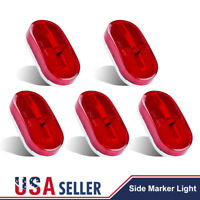 5pcs Red Oval 12V 4