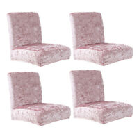 4pcs Chair Covers Dining Room Removable Slipcovers Party Decor Supplies