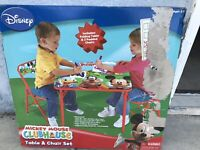 Disney Mickey Mouse Folding Table & 2 Padded Chairs Set For Kids - Furniture