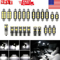 23 Pcs LED White Car Light Bulb Interior Map Dome Trunk License Plate Lamps Kit