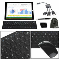 EEEKit Wireless Keyboard 2.4G Mouse Office Accessory Bundle for Tablet Desktop