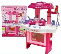 Deluxe Pink  Beauty Kitchen Appliance Cooking Play Set 24