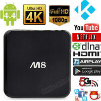 M8 Android 4.4 Smart TV BOX Quad Core Full 1080P HD XBMC WIFI 1G+8G Media Player...
