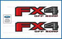 set of 2: 2015 Ford F150 FX4 Off Road Decals F offroad Stickers Truck bed Side
