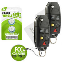 2 Replacement For 2004 2005 2006 2007 2008 2009 Volvo XC90 Key Fob Remote