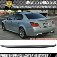 04-10 BMW 5 Series E60 4Dr AC Style Trunk Spoiler Painted Gray Metallic # A52