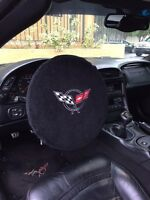1997-2004 Chevrolet Corvette C5 Black Steering Wheel Cover Armour Protector NEW
