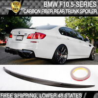 11-16 BMW F10 5-Series 4D Sedan Carbon Fiber Rear Trunk Spoiler Wing CF Tail Lid