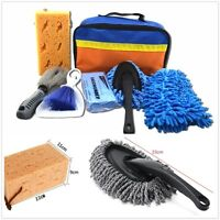 Universal 7 Pcs Car Cleaning Kit Wash Tool Set Interior Exterior Cleaning Bag