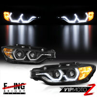 {F32 M3 STYLE} For 12-15 BMW F30 4DR 328i 335i Dual LED Halo Projector Headlight