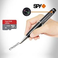 Ctronics Spy Pen Camera Covert Real HD 1080p Video Recorder & 8G SD Card US SHIP