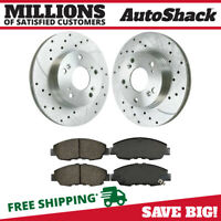 New Front Silver Performance Drilled & Slotted Brake Set fits F150 Mark LT