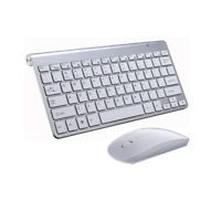 Ultra Thin Mini USB Wireless Keyboard & Optical Mouse Kit Set for PC Desktop New