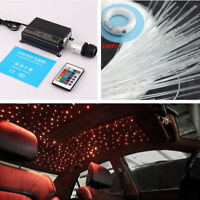 Car Led Ceiling Light Fiber Optic Star Kit RGBW Light Source with Remote Control