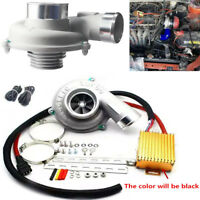 Car Electric Turbo Supercharger Kit Turbocharger Air Filter Intake Fuel Saver