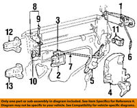 Lincoln FORD OEM Town Car Rear Door-Lock or Actuator Latch Release 9W1Z5426413A