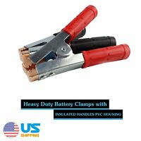 Pair 1500Amp Heavy Duty Jump Starter Jumper Cable Battery Clips Clamps Charger