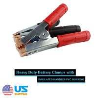 2pcs Jumper Cable Jump Starter Booster Battery Charger Clamps 1500Amp Heavy Duty
