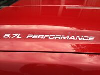 5.7L Performance vinyl decals for Chevy, GMC, Ford, Dodge window, body NEW STYLE