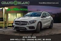 2018 Mercedes-Benz GLA45 AMG AMG 2018 MERCEDES BENZ GLA 45 AMG CIRRUS WHITE WITH BLACK DINAMICA RED STITCHING