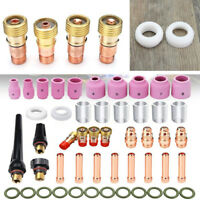49PCS TIG Welding Torch Stubby Gas Lens Alumina Nozzle #10 Pyrex Glass Cup Kit