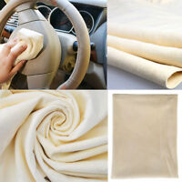 1pc Natural Chamois Leather Car Cleaning Cloth Washing Suede Absorbent Towel