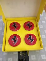 Ferrari Red Center Wheel Caps 4pc Set OEM 70001465 Genuine Accessory No Reserve