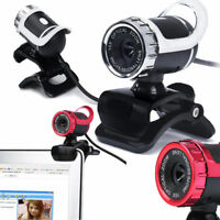 USB 2.0 HD 12.0MP Webcam with Built-in Microphone for PC & Desktop Black &Silver