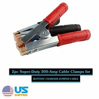 300A Car Auto Battery Charger Clips Jumper Starter Replace Booster Cable Clamps