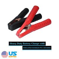 Pair Car Battery Charger Clamp Clip Jumper Cable Power Jump Starter Booster 500A