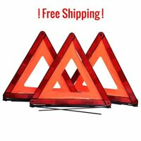 Warning Triangle Emergency Reflector Sign Road Safety Kit Dot Approved 3-Pack -
