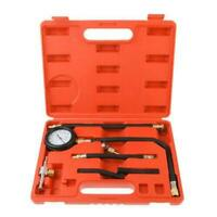 Universal Fuel Injection Gauge Pump Pressure Tester Test Kit Car System Tool Set