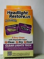 Car Truck Headlight Restoration Kit Cleaner UV Protection Lens Cleaning Wipes