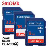 SanDisk 8G 16G 32GB Class 4 SDHC Flash Memory SD Card For Digital Cameras